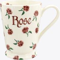 Personalised Little Pink Rose Cocoa Mug