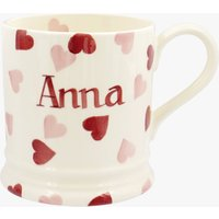 Personalised Pink Hearts 1 Pint Mug
