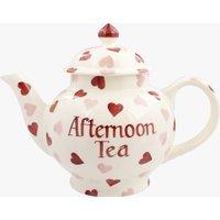 Personalised Pink Hearts 4 Mug Teapot