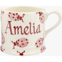 Personalised Pink Ladybird Small Mug