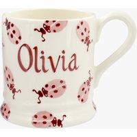 Personalised Pink Ladybird 1/2 Pint Mug