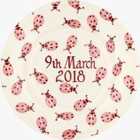 Personalised Pink Ladybird 8 1/2 Plate