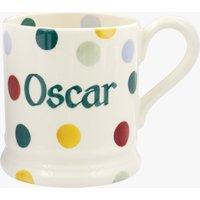 Personalised Polka Dot 1/2 Pint Mug.