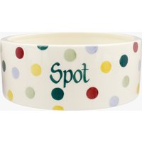 Personalised Polka Dot Large Pet Bowl