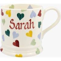 Personalised Polka Hearts 1 Pint Mug