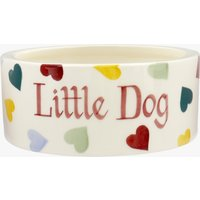Personalised Polka Hearts Small Pet Bowl