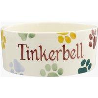 Personalised Polka Paws Small Pet Bowl