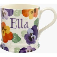Personalised Purple Pansy 1 Pint Mug