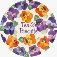 Personalised Purple Pansy 8 1/2 Plate