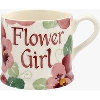 Personalised Pink Pansy Small Mug