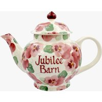 Personalised Pink Pansy 4 Mug Teapot