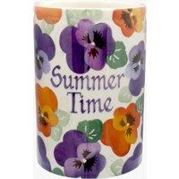 Personalised Purple Pansy Medium Vase