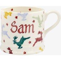 Personalised Polka Reindeer Small Mug