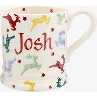 Personalised Polka Reindeer 1/2 Pint Mug