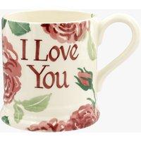 Personalised Pink Roses 1/2 Pint Mug