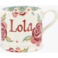 Personalised Rose and Bee Small Mug