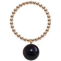 14kt Gold Black Pearl Orb Ring - UK G - US 3 3/8 - EU 45 1/4