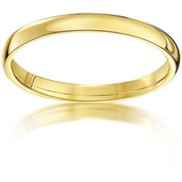 18kt Yellow Gold Court Shape Wedding Ring - L
