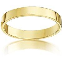 18kt Yellow Gold Flat Court Shape Wedding Ring - N