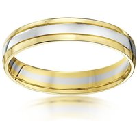 9kt White & Yellow Gold Wedding Ring - M