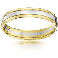 9kt White & Yellow Gold Wedding Ring - K