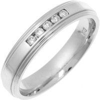 9kt White Gold Diamond Eternity Ring - H - Black