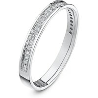 9kt White Gold Round Diamond Eternity Wedding Ring - V - Black