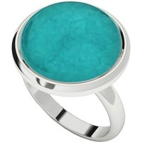 Amazonite Sterling Silver Cabochon Ring - UK X - US 11 5/8