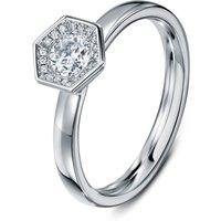 Chapiteau 33pt Platinum Ring - UK K - US 5 1/8 - EU 50