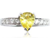 Classic Yellow Sapphire Ring - UK J 1/2 - US 5 - EU 49 1/2