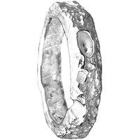 Cornish Beach Sand Textured Silver Wedding Ring - UK Q - US 8 - EU 57 3/4