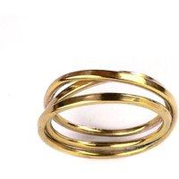 Cosmic Wedding Ring Yellow Gold 4 Tier - UK P 1/2 - US 7 3/4 - EU 57