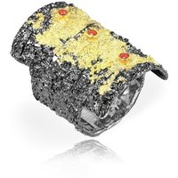 Crevise1 Oxidised Silver Ring - UK O 1/2 - US 7 1/4 - EU 56