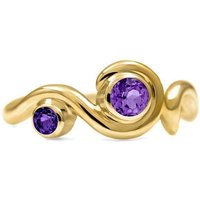 Entwine Two Stone Ring In Gold - UK L - US 5 1/2 - EU 51 3/4