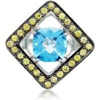Expose Cushion Blue Topaz Cushion-shaped Ring - UK Y 1/2 - US 12 1/4- EU 67 3/4