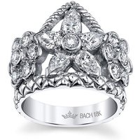 Flower Crown Ring With Diamonds - UK N - US 6 1/2 - EU 54