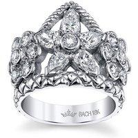 Flower Crown Ring With Diamonds - UK N - US 6 1/2 - EU 54