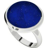Lapis Lazuli Sterling Silver Cabochon Ring - UK Y - US 12 - EU 67 1/2