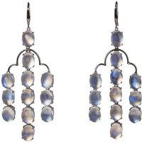 Moonstone and 18kt Black Gold Earrings