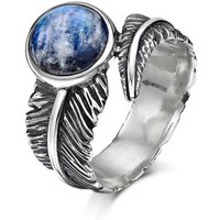 Sterling Silver & Moonstone Feather Ring | Becky Rowe - UK L - US 5 1/2 - EU 51 3/4