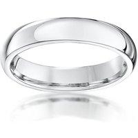 Palladium 950 Medium Court Shape Wedding Ring - M