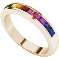 Rainbow Ring in 9kt Rose Gold - UK L - US 5 1/2 - EU 51 3/4