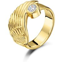 Yellow Gold & Cubic Zirconia Angel Wing Ring | Becky Rowe - UK W - US 11 1/8 - EU 65