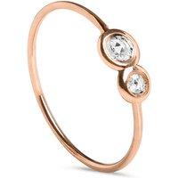 9kt Rose Gold Oro Rosa Diamanti Ring - UK O - US 7 - EU 55