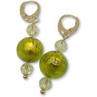 Murano Glass Bead Spring Love Earrings