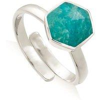 Firestarter Amazonite Sterling Silver Adjustable Ring -