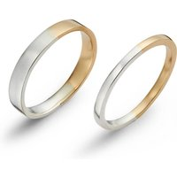 Sterling Silver & 9kt Gold Two Tone Classic Ring - UK W - US 11 1/8 - EU 65