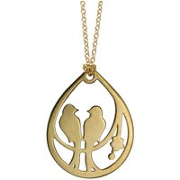 Gold Plated Silver Love Birds Necklace