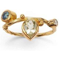 Gold & Blue Sapphire Seafire Ring | Bergsoe - UK V 1/2 - US 11 - EU 64