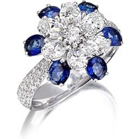 White Gold & Sapphire Mama Non M'ama Collection Ring | Pinomanna - UK V - US 10 5/8 - EU 63